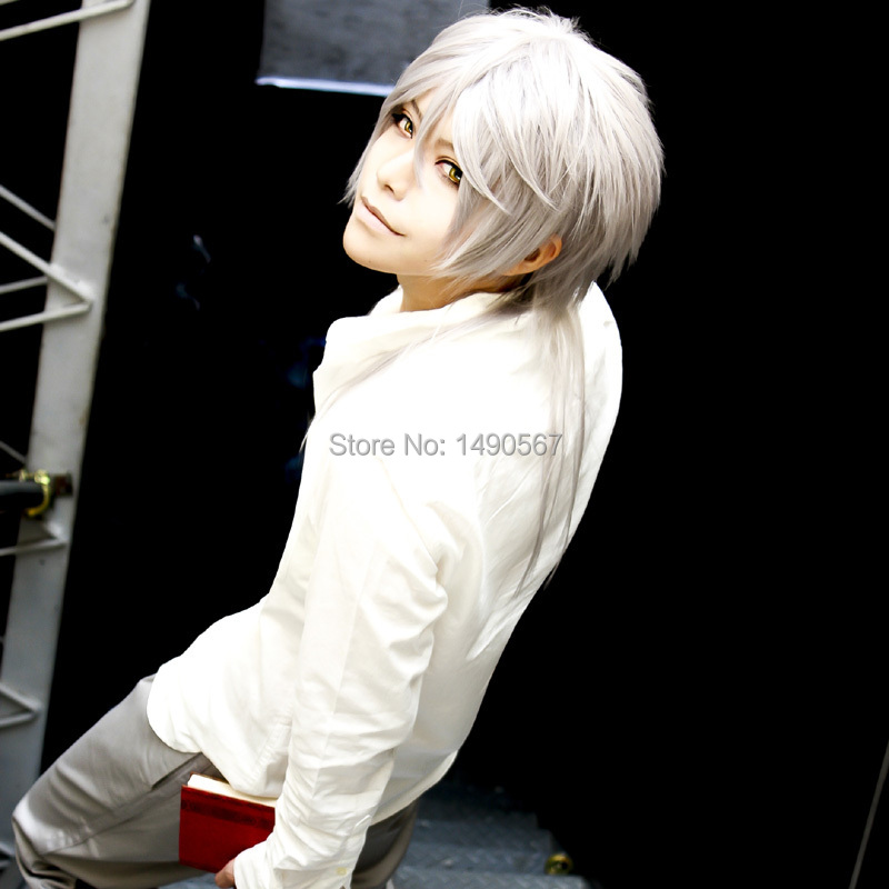 Silver Cosplay Wig Inspired by Psycho-Pass Shogo Makishima\ Prince of Tennis Niou Masaharu<br><br>Aliexpress