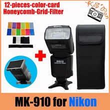 Buy Meike MK-910 MK910 i-TTL Flash Speedlight 1/8000s HSS Master Nikon D7100 D7000 D600 D610 D5300 WITH FREE COLOR CARD & FILTER for $103.00 in AliExpress store