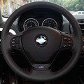 Car Steering Leather Covers Case for BMW 320i 2013 BMW 316i Genuine Leather Specially Made DIY