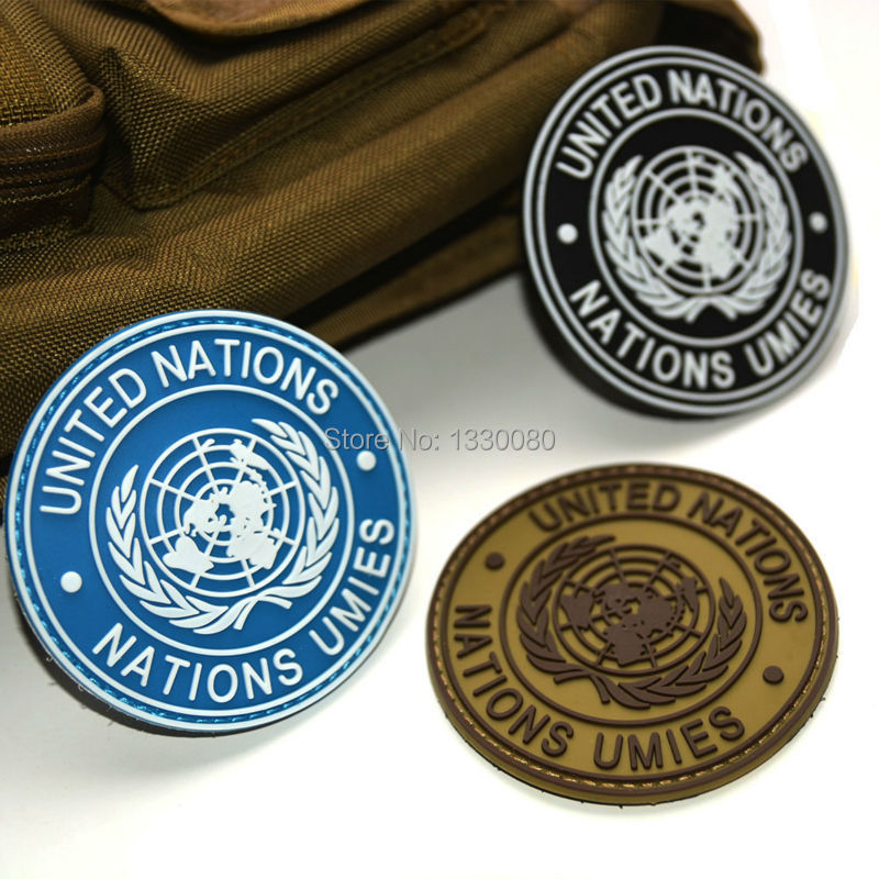 International U.N UN United Nations Genuine Shoulder Patch Badge Mud Black E5M1(China (Mainland))