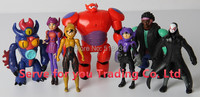 7PCS/SET BiG Heros 6 Baymax Action Figure Hiro Hamada Baymax Fred Tomago Wasabi Honey Lemon Cartoon Figure Toys BIG HERO toys