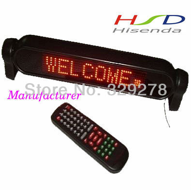 Big discounts 12v LED car Signs digit board Mini led diplay for car Support Russian Spain Red color 7*50 pixels 24pcs/lot(China (Mainland))