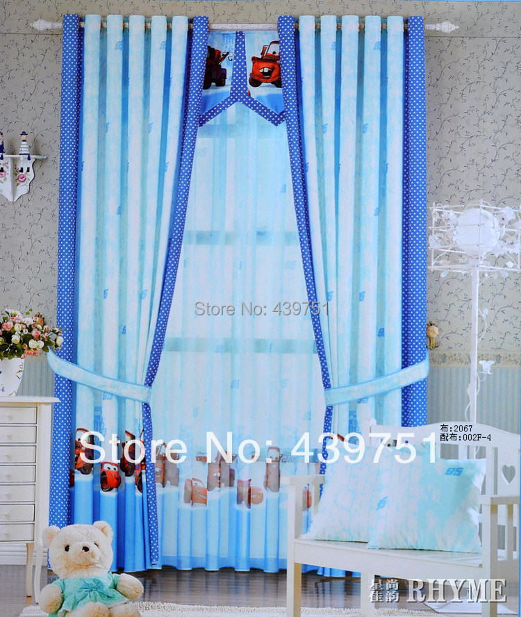 cartoon car for child room curtains for living room bedroom curtains ...