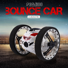 Buy Mini Bounce Car PEG SJ88 RC Cars 4CH 2.4GHz Strong Jumping Sumo RC Car Flexible Wheels Remote Control Robot Car Gifts for $27.98 in AliExpress store