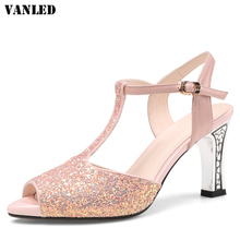Buy VANLED Crystal Heel Women Sandals Fashion Sandalias Mujer Buckle Casual Sandals Women Brand Shoes Bling Women Sandals Shoes for $39.90 in AliExpress store