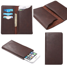Universal Crazy Horse Leather Flip Mobile Phone Case Wallet Pouch Back Cover For Zopo C2/C3/color E/speed 7 Elephone S2 S3 P6000