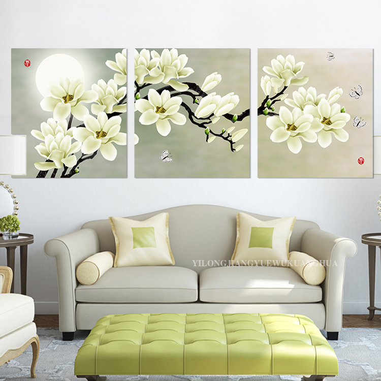 Free shipping 3 pieces modern decorative oil painting on for Modern decorative pieces