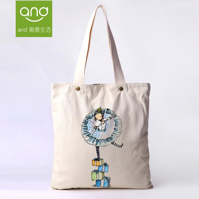 Canvas Cotton Soft Shoulder Classic Bolsas Femininas Tote Shopping Cartoon Bags GYM Eco-Friendly Everyday Lunch Women's Handbags(China (Mainland))