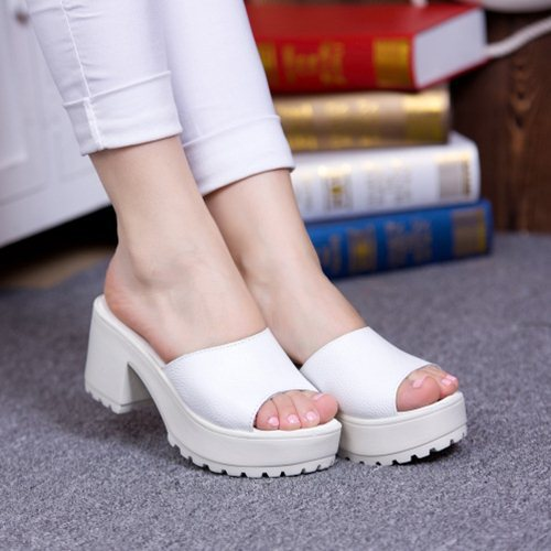 New Listing Hot Sales summer fashion women sandals Shark mouth shoes High-heeled shoes women flip flop jx0059(China (Mainland))