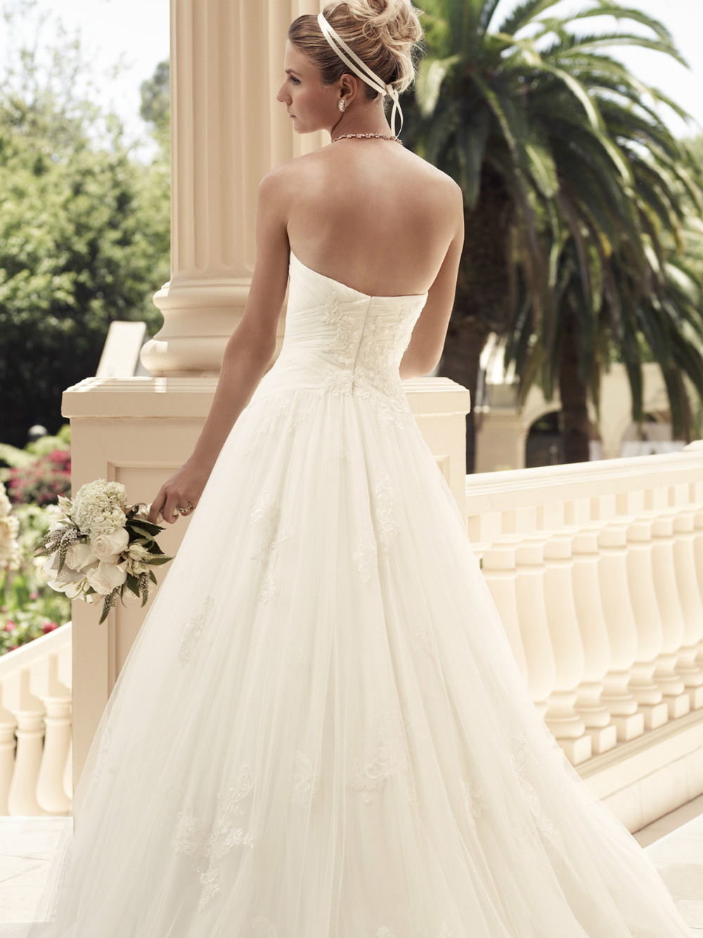 sweetheart-ruched-satin-bridal-gown-casablanca-2108-7