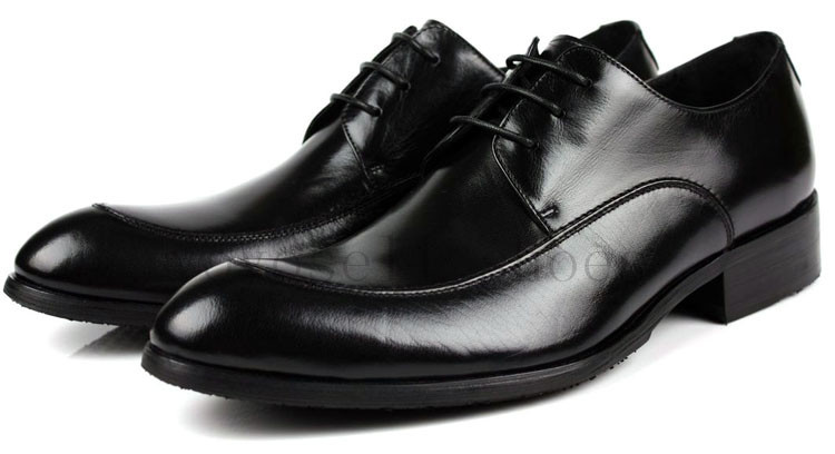 Lace-up luxury mens dress shoes Black/Brown wedding shoes casual business shoes genuine leather mens work shoes