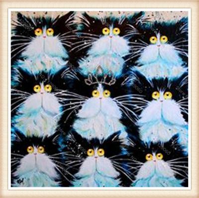 Diamond painting crystal  Square drill rhinestone pasted full Needlework Diamond embroidery Cross stitch painting cat30x30cm