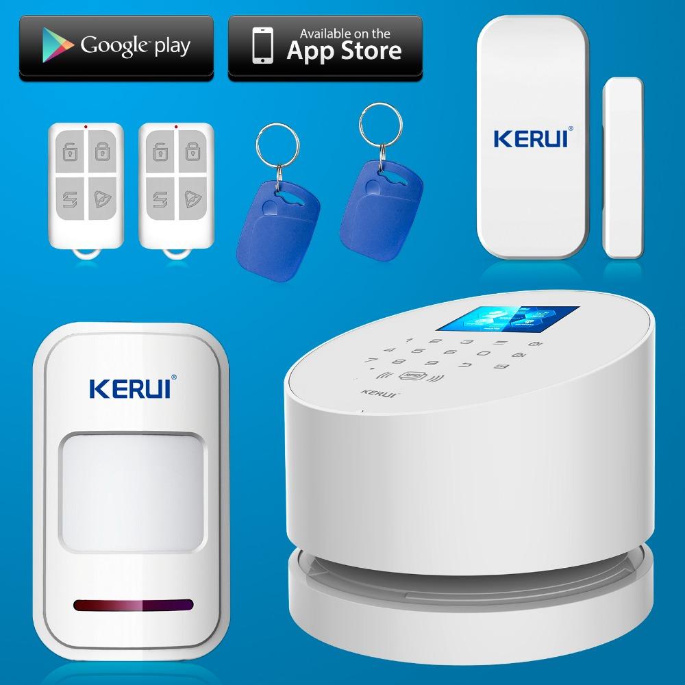2016 Phone APP wifi alarm system Wireless KERUI W2 Wifi GSM PSTN line telephone alarm system suit wifi ip camera RFID disarming(China (Mainland))