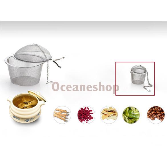 Гаджет  Tea Stainless Strainer Locking Tea Spice Mesh Herbal Ball Diam 4.5cm None Дом и Сад