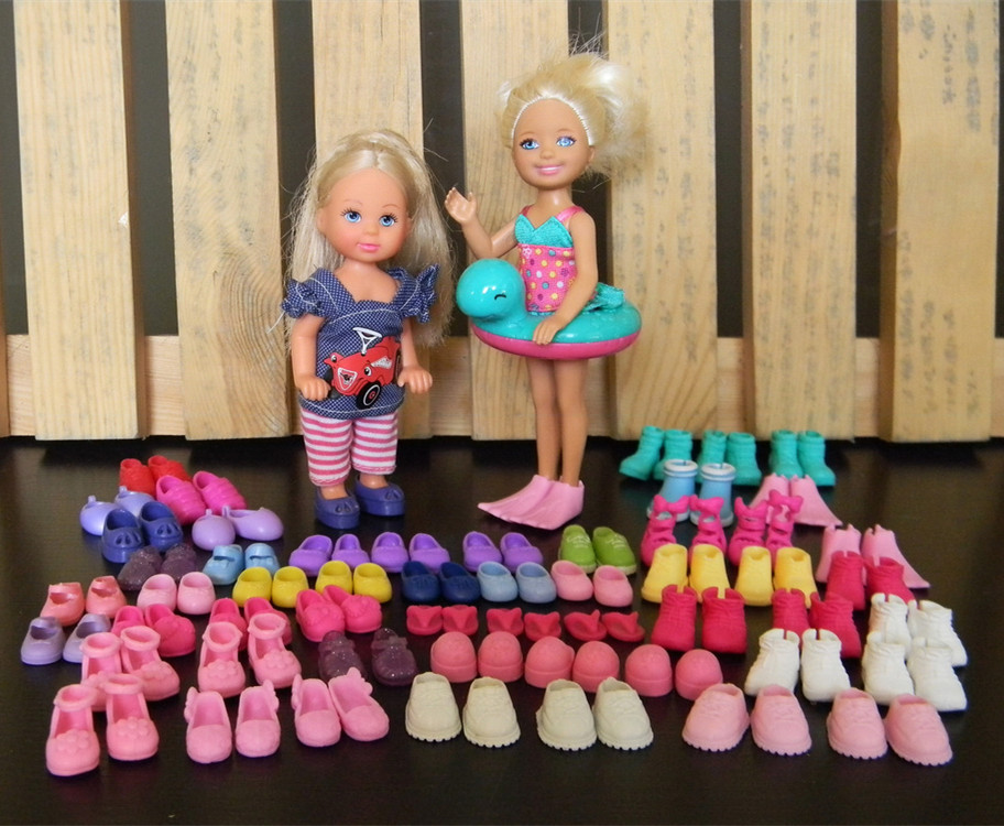 20Pairs/lot Multi-Style Cute Mini Doll Shoes Fashionable Simba Little Kelly Dolls Sandles Slippers Boots Kid Toy Shoes Wholesale(China (Mainland))