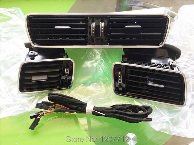 For Volkswagen VW CC Passat B6 B7 R36 refit the new piano black air conditioning vent fresh air nozzle 3AD