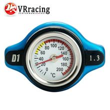 VR RACING-In stock D1 Spec RACING Thermost Radiator Cap COVER + Water Temp gauge 1.3BAR Cover For Honda VR-DRC13(China (Mainland))