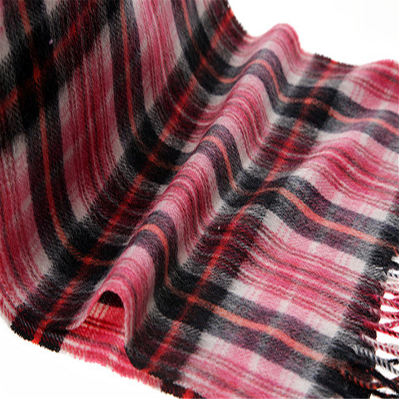 Фотография classic colorful small plaid 100% goat cashmere long scarfs kids scarves 30x170cm retail & wholesale free shipping