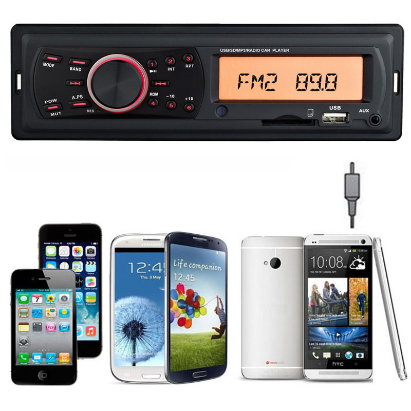 Onfine Leo 2015 In dash Car Stereo Radio And MP3 Player USB SD WMA AUX Input
