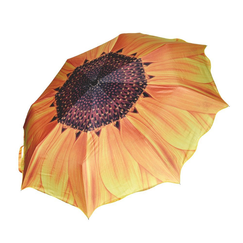 LNHF Free Shipping Unique Elegant Women Sunscreen Sunflower Super Block Sun Rain Folding Umbrella<br><br>Aliexpress