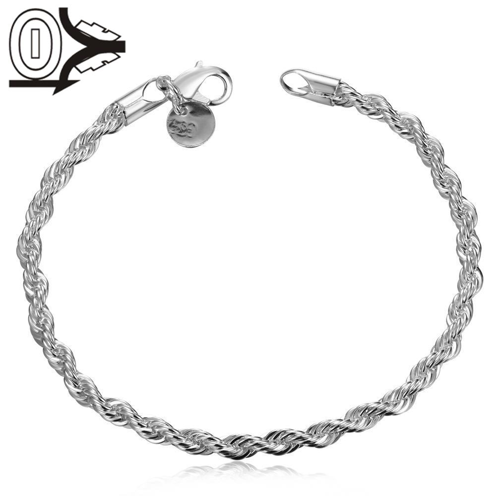 2016 Silver Plated Bracelet,Wedding Jewelry Accessories,Fashion Flash Twisted Rope Bracelets Bangle - ShenZhen Trade Co.,Ltd store