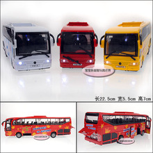 Luxury bus ultralarge exquisite alloy door acoustooptical WARRIOR alloy car model(China (Mainland))