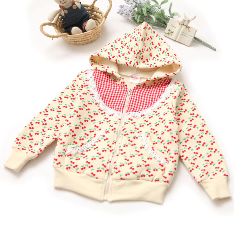 Wholesale korean fashion hot top sale 2014 new arrival kids girls infant spring autumn shivering jacket