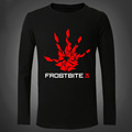 New Frostbite Engine Men T Shirts Fashion Printing Palm 3D Game Engine Tight Long sleeved Male
