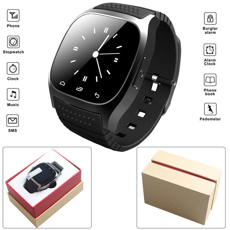 image for Dropshipping  Sport Smartwatch M26 Bluetooth Smart Watch With LED Alit