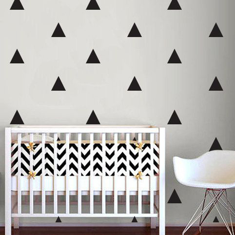 Гаджет  Triangle Pattern Wall Sticker Baby Nursery Triangle Pattern Children Wall Decals DIY Decorating Wall Art Hot Sale Free Shipping None Дом и Сад