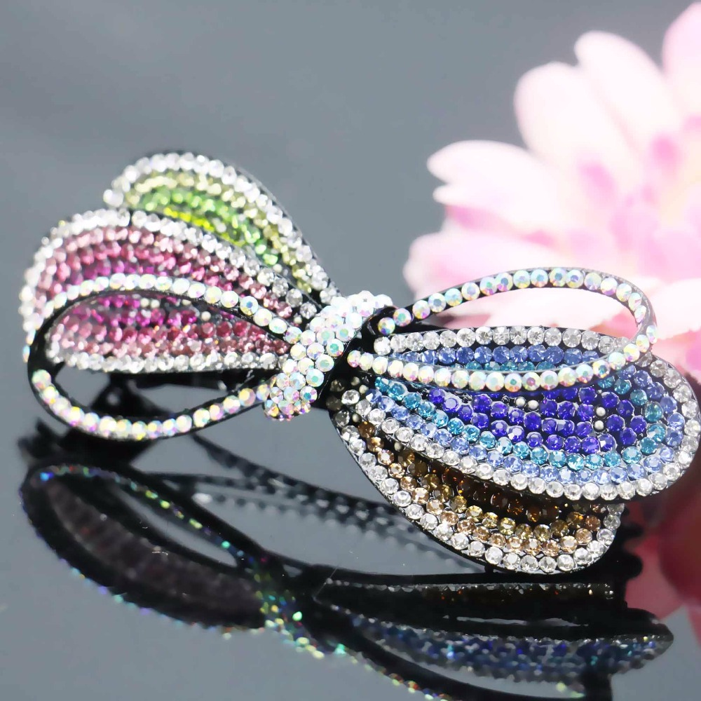 35x83mm Hair Accessory Wedding Headdress Butterfly Bows Bowknot Jewelry Making Design Hair band Headpiece Hairpin Bows(China (Mainland))