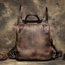 Buy Vintage Leather Backpack Purse Girls School Travel Backpack Bag Women Designer Waterproof Backpacks Fashion New Back Pack for $136.22 in AliExpress store