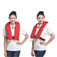 Manual Inflatable Automatic Inflatable Life Vest Survival Whistle Water Sports Life Jacket For Water-skiing Upstream Surfing(China (Mainland))