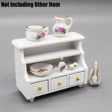 1:12 Miniature Furniture 7PCS Bathroom Sanitary Porcelain Set Shower Bath Soap Shampoo Dollhouse Accessories For Kitchen(China (Mainland))