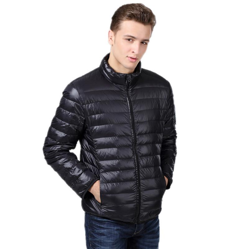 New Ultralight Men 90% White Duck Down Jackets Outdoor Sport Winter Coat Waterproof Down Parkas Wholesale