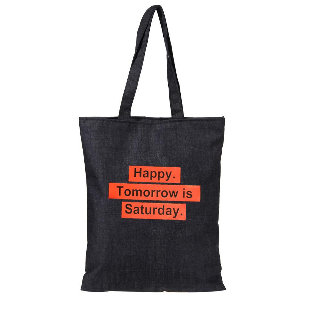 Letters Printed Casual Canvas Material Totes Large Capacity Shopping Bag Handbags for Girls Boys Fashion Summer Shoulder Bags(China (Mainland))