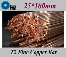 Buy 25*100mm T2 Fine Copper Bar Pure Round Copper Bars DIY Material Free for $25.50 in AliExpress store