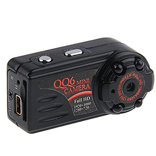 HD 1080P 720Parrival Smallest Full DV Camera Camcorder IR Night Vision Motion Detect hidden DVR QQ6 spy mini camera(China (Mainland))
