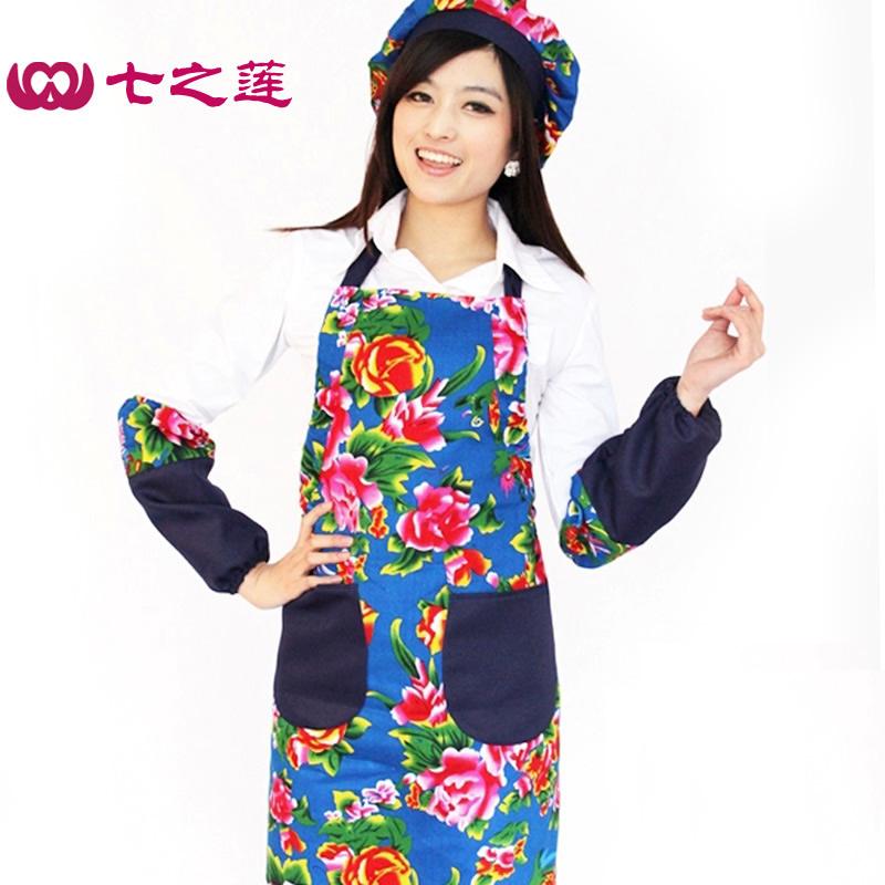 The new traditional folk style long cotton cloth apron 79199 fashion Home Furnishing Kitchen Apron custom made(China (Mainland))
