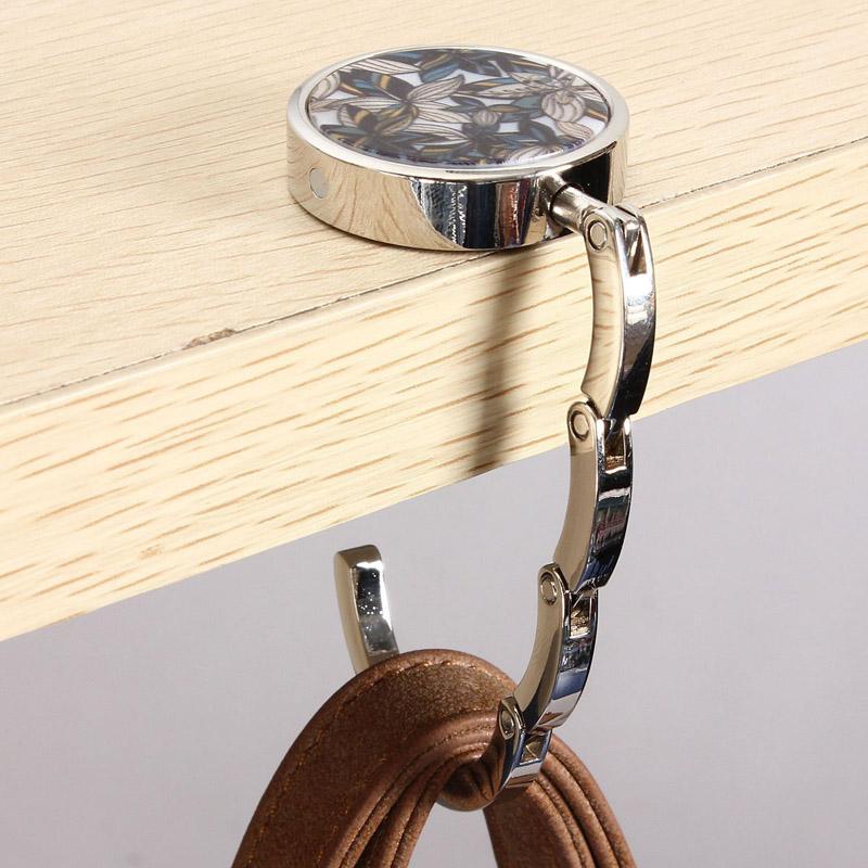 New Metal Foldable Bag Purse Hook Bag Hanger/Purse Hook/Handbag Holder Shell Bag Folding Table Popular(China (Mainland))