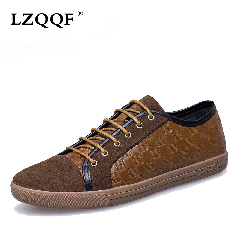 New 2016 Hot Sale Spring new fashion Genuine Leather Men Shoes Mens Casual Breathable Shoes flat shoes Zapatos Hombre EPP089