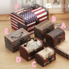 General Idea of European Style Creative Retro Box Jewelry Storage BoxMade of Old Wooden Box Gift for Friends Wood Craft