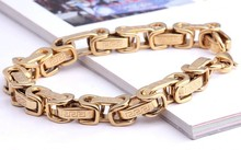 free shipping top quality titanium Stainless steel fashion jewelry 18 k gold bracelet wholesale support Wall consignment(China (Mainland))