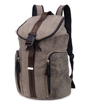 factory wholesale wash water backpack for man Personality canvas backpack for man leisure travel bag(China (Mainland))
