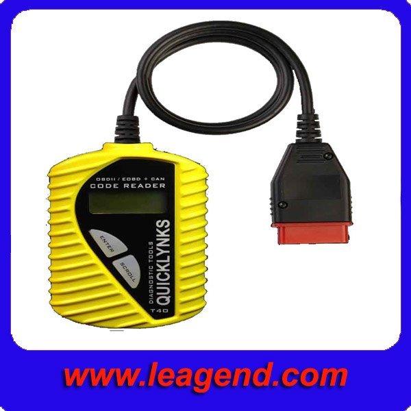 T40 CAR diagnostic trouble code reader auto scanner (Color: Yellow)