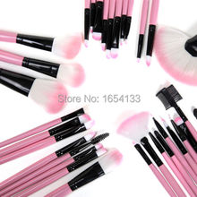 Professional 32pcs Cosmetic eye Make up Brush Kit 32 pcs Makeup Brushes Tools Set beauty Black Pink brochas pinceaux maquillage(China (Mainland))