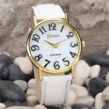 2015 Women Retro Digital Dial Leather Band Quartz Analog Wrist Watch Watches Ladies Watch Women Perfect Gift