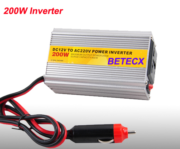 Good sales & Good Quality 200W Modified Sine Wave Car Power Inverter DC TO AC(China (Mainland))