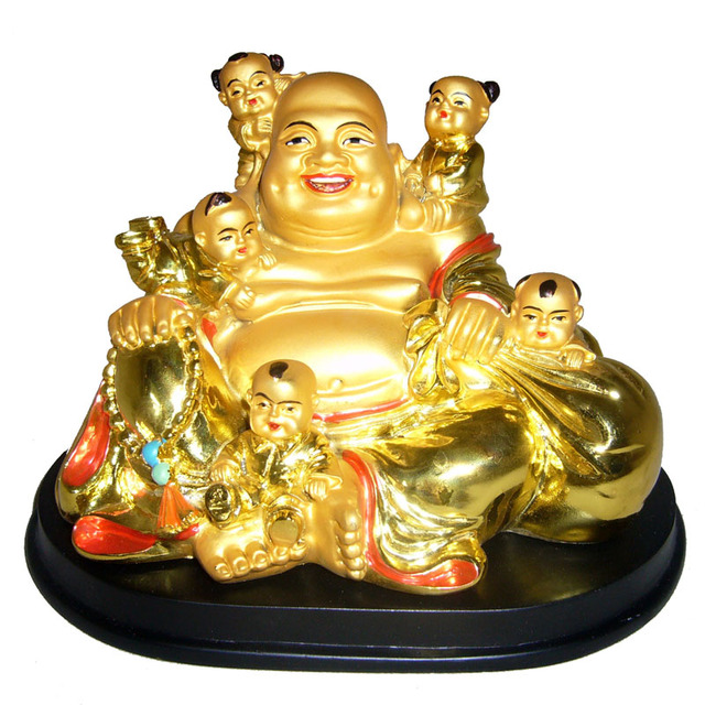 Lucky laughing buddha resin decoration home decoration