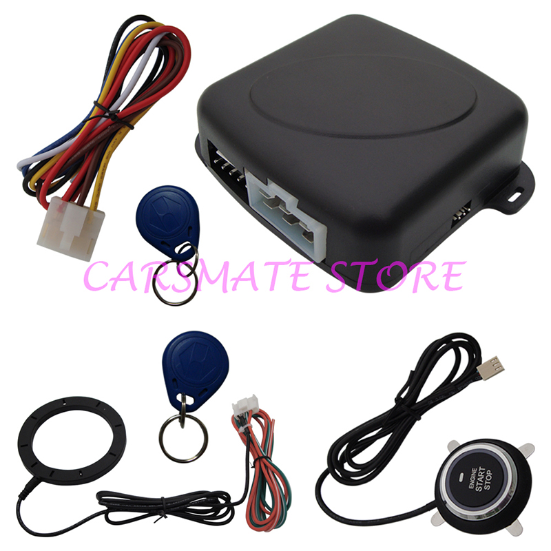 Stock In USA Top Quality Smart Key RFID car alarm system with push button start & Transponder Immobilizer engine lock &unlock(China (Mainland))